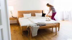 Bett Zebra - die Ruhe des Waldes im Schlafzimmer Bettgestell Zebra Mit Kopfteil