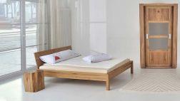 Bett Cara, Massivholzbett in 4 Holzvarianten